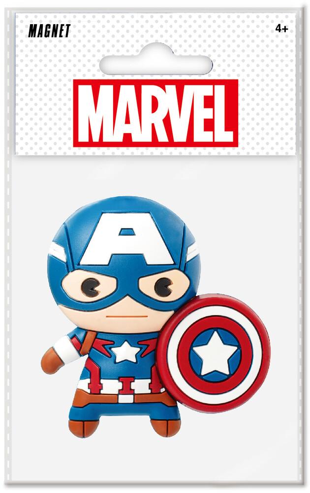 Captain America 3D Foam Magnet - Captain America 3d Foam Magnet (Mag)
