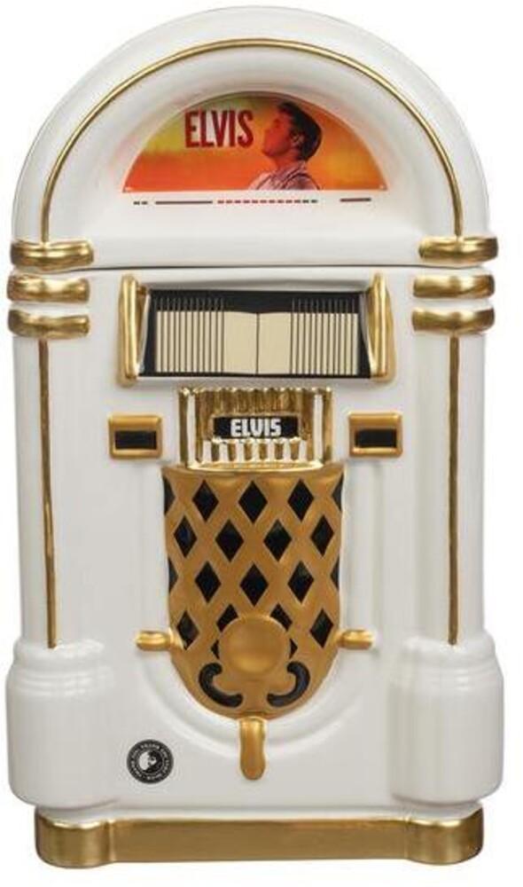 Elvis Presley Jukebox Sculpted Ceramic Cookie Jar - Elvis Presley Jukebox Sculpted Ceramic Cookie Jar