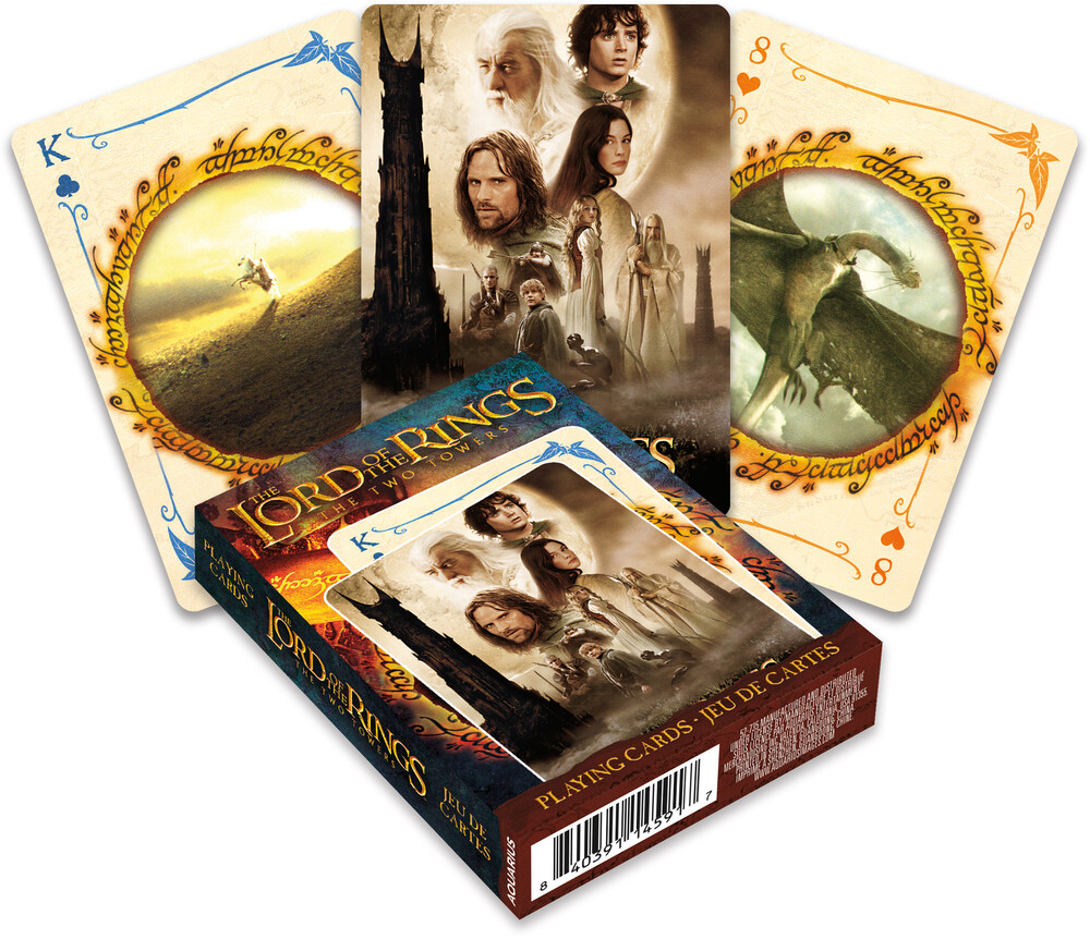 Lord of the Rings Two Towers Playing Cards Deck - Lord Of The Rings The Two Towers Playing Cards Deck