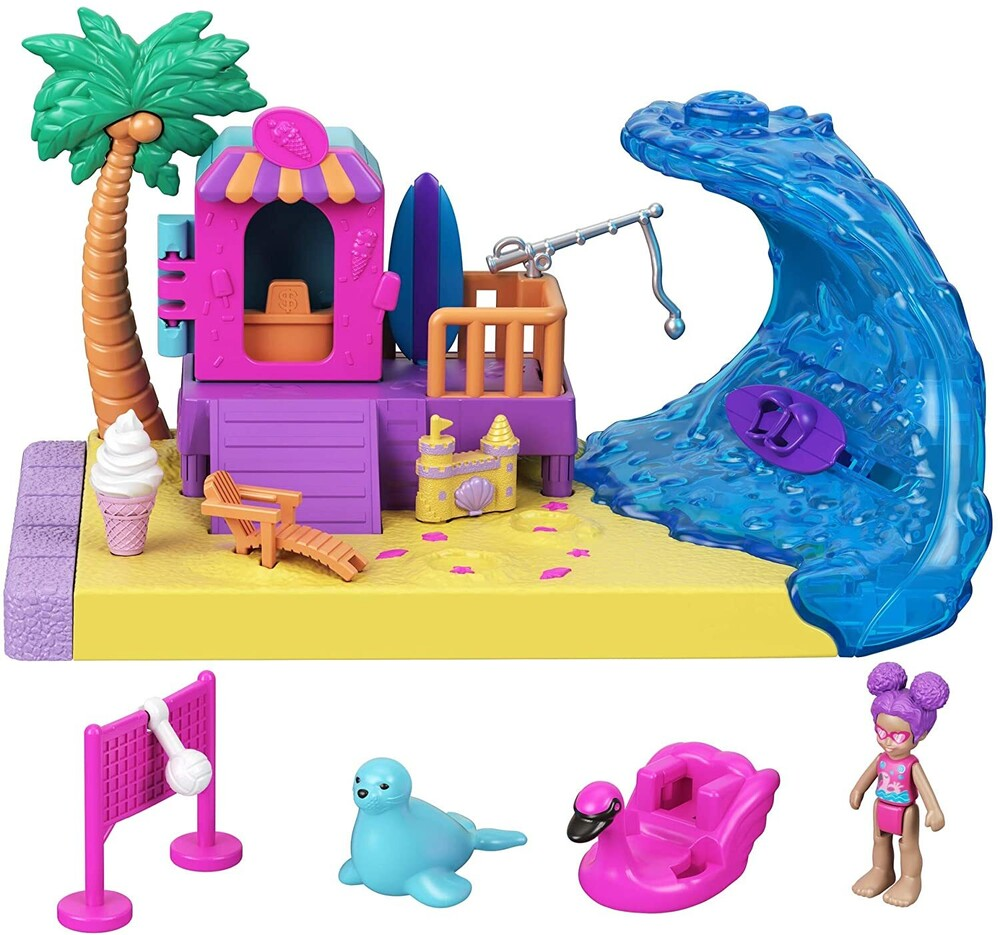 Polly Pocket - Mattel - Polly Pocket Pollyville Outdoor Beachside