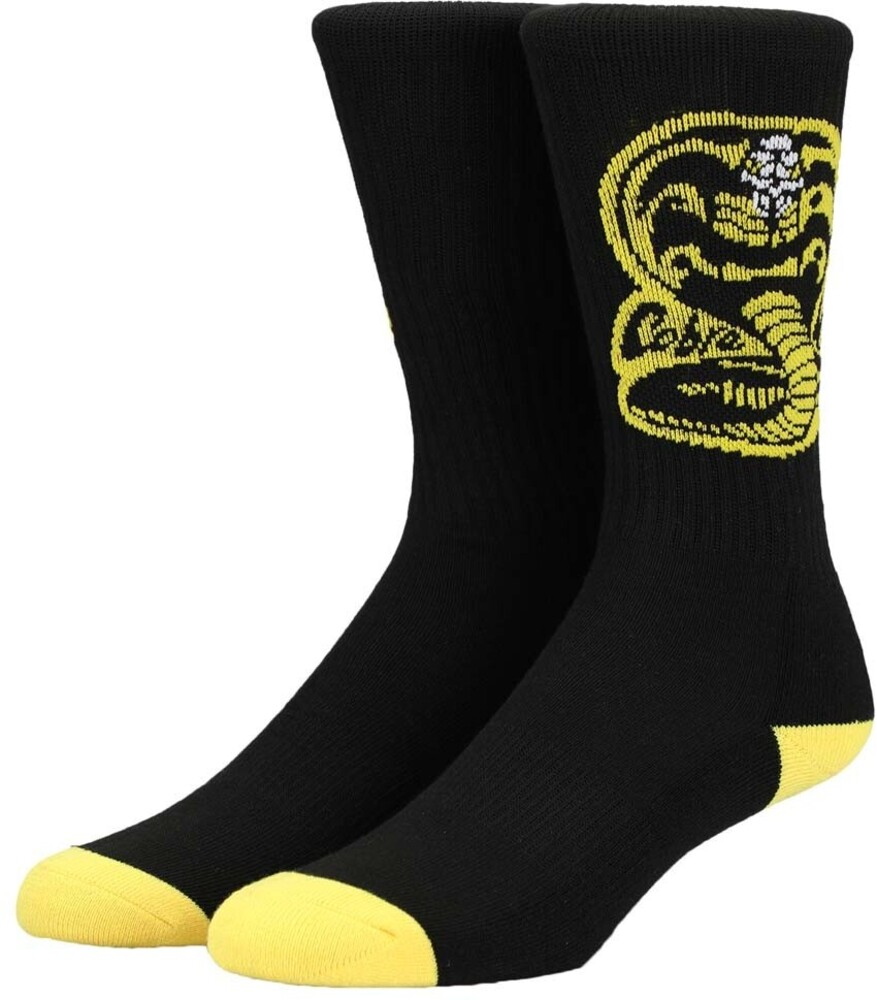 Cobra Kai Crew Socks Men's Shoe Size 8-12 - Cobra Kai Crew Socks Men's Shoe Size 8-12