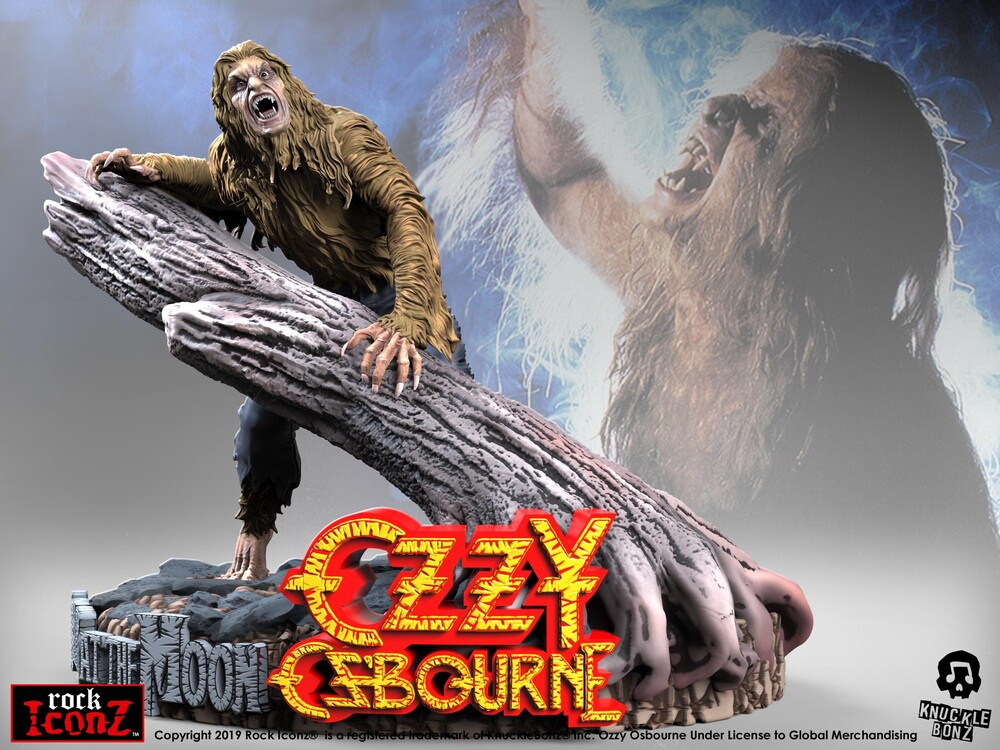 Knucklebonz - Knucklebonz - Ozzy Osbourne Bark at the Moon Rock Iconz Statue