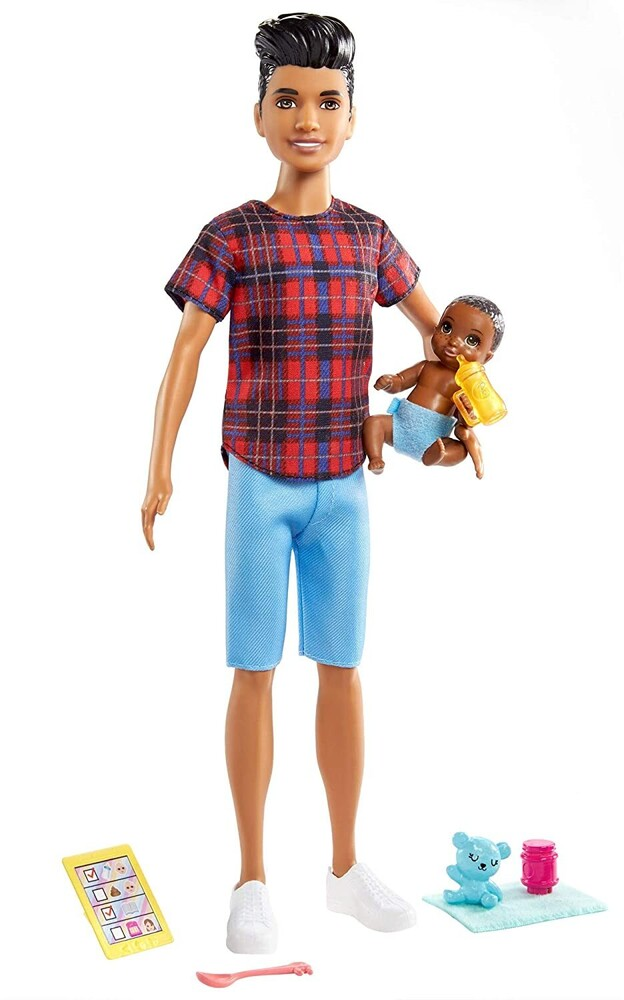 - Mattel - Barbie Skipper Babysitters Inc. Doll & Accessories, Brunette Boy with Sculpted Hair