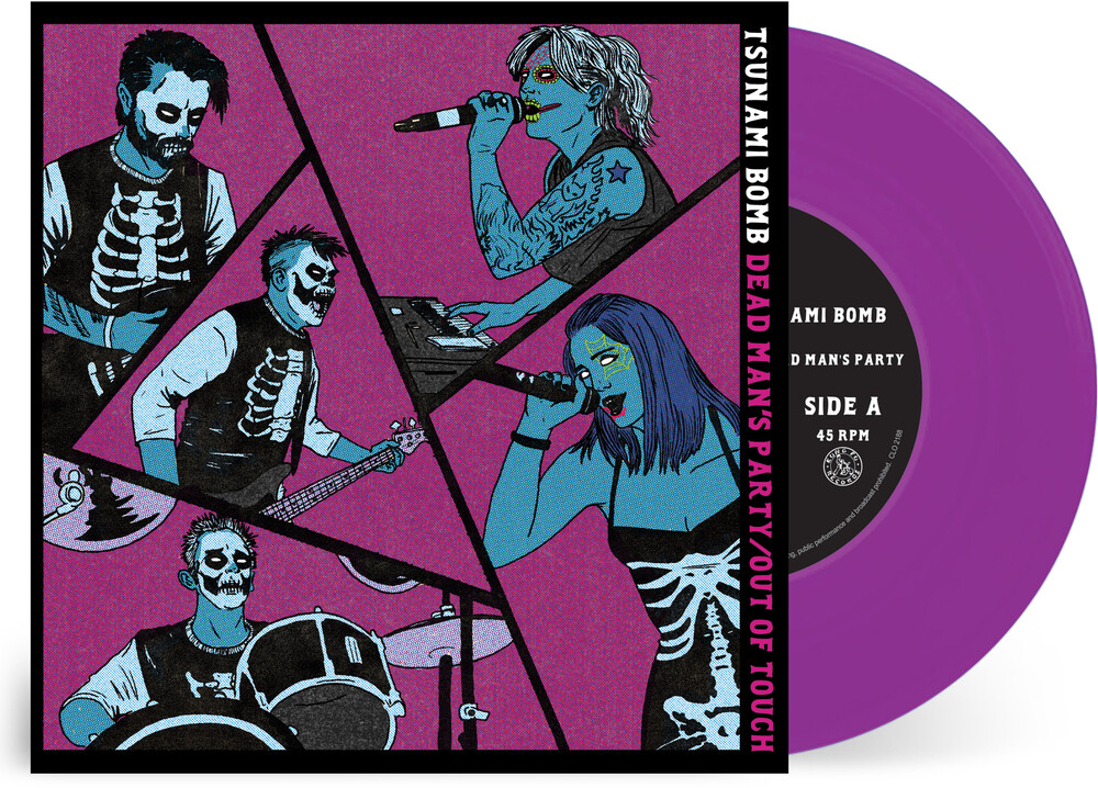 Tsunami Bomb - Dead Man's Party / Out Of Touch (Purple Or Blue)
