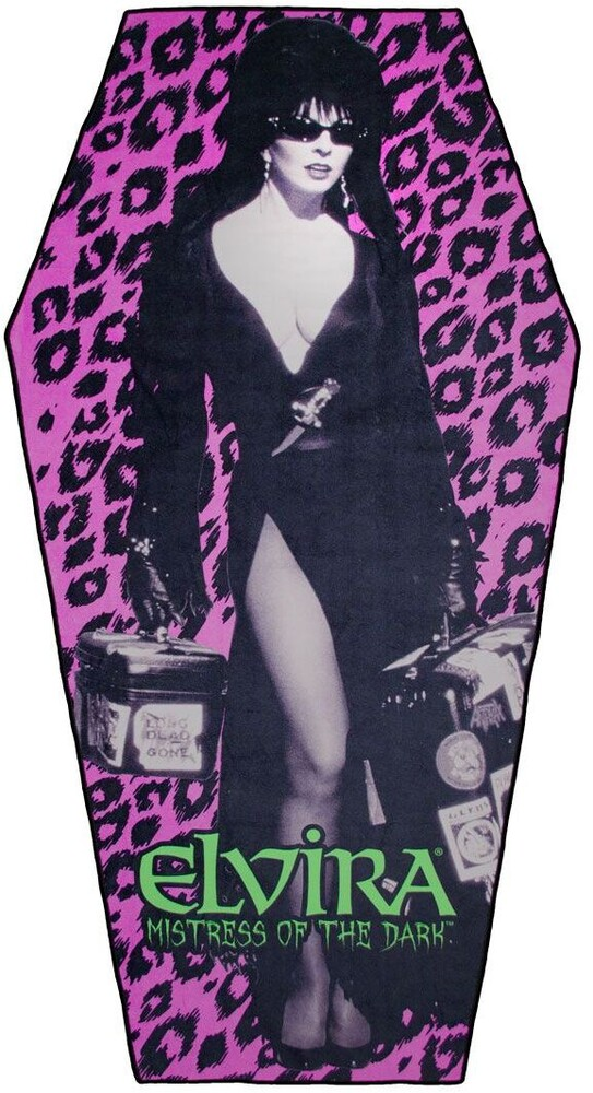 Elvira Leo Coffin Beach Towel - Elvira Leo Coffin Beach Towel (Clcb) (Deco)