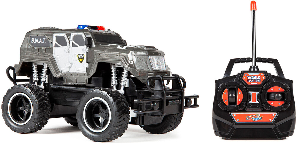 - S.W.A.T. 1:24 RTR Electric Remote Control RC Monster Police Truck