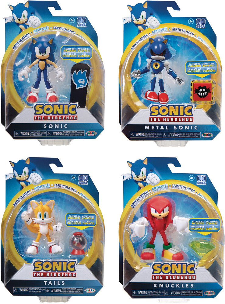 Jakks Pacific - Jakks Pacific - Sonic The Hedgehog 4 Articulated Action Figure Wave 2Assortment (Net)