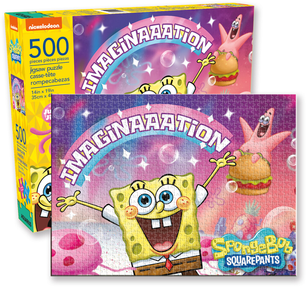 Nickelodeon Spongebob Squarepants 500 PC Puzzle - Nickelodeon SpongeBob Square Pants Imagination 500 Pc Jigsaw Puzzle