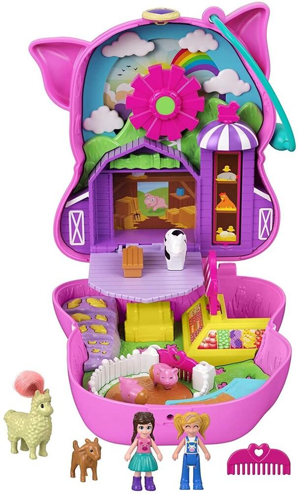 Polly Pocket - Mattel - Polly Pocket Pig Farm Compact