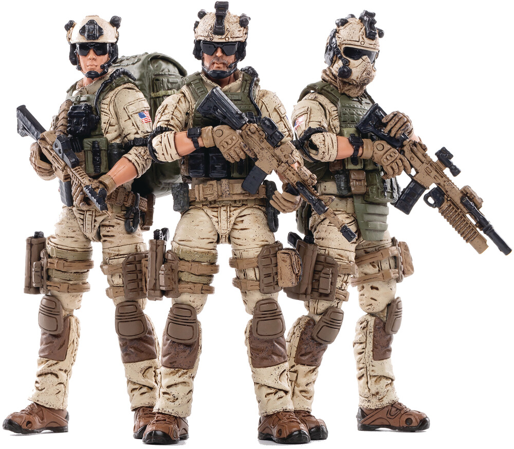 Dark Source Trading - Dark Source Trading - Joy Toy Us Army Delta Force 1/18 Figure 3 Pack(Net)