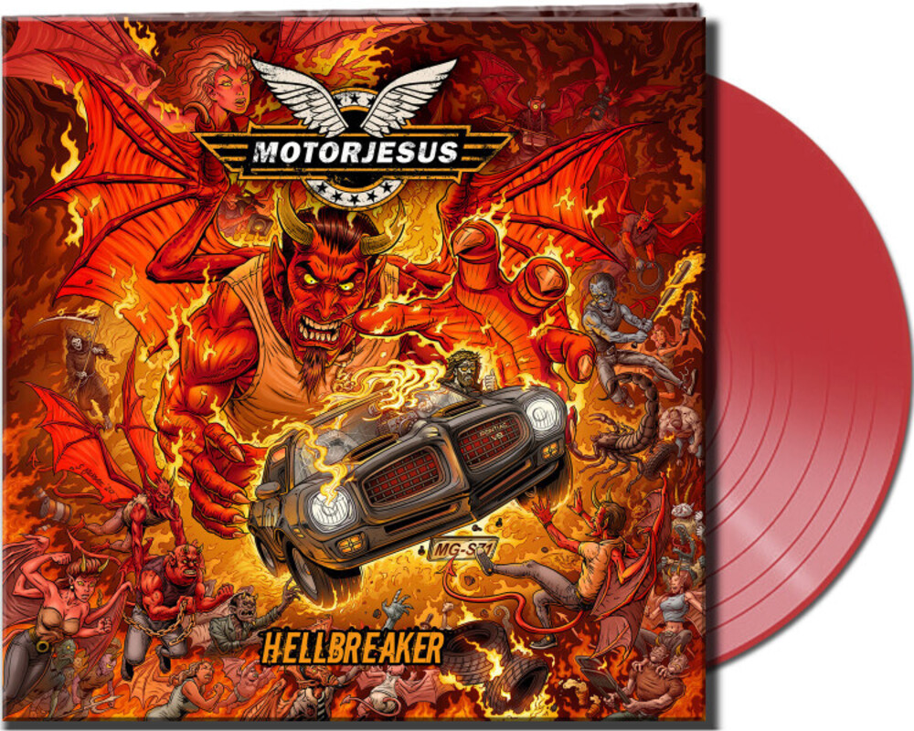 Motorjesus - Hellbreaker (Clear Red Vinyl) [Clear Vinyl] (Gate) [Limited Edition]