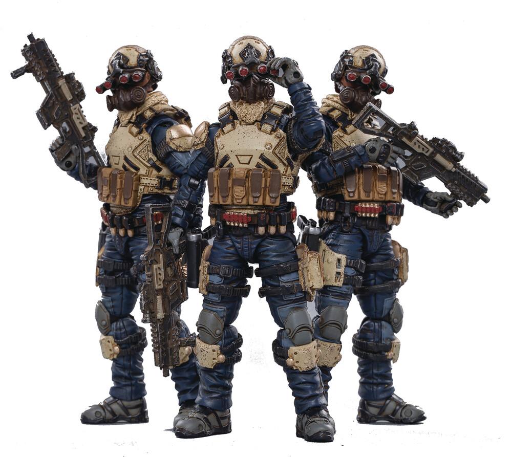 - Joy Toy Starhawk 8th Army Indigo Fleet 1/18 3pk