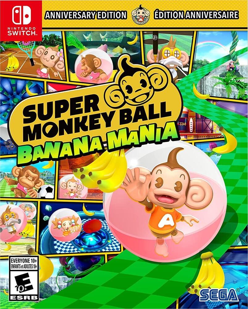 Swi Super Monkey Ball Banana Mania Anniversary Ed - Super Monkey Ball Banana Mania ANNIVERSARY LAUNCH EDITION for Nintendo Switch