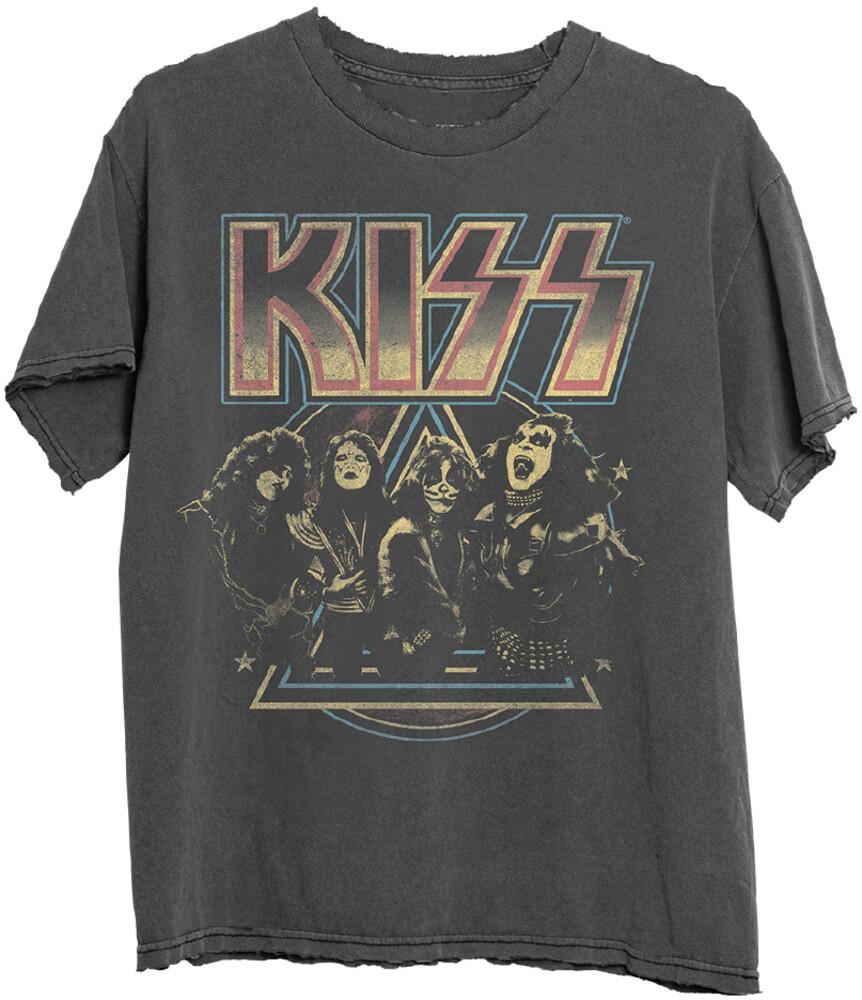 - Kiss Pyramid Black Ss Tee L (Blk) (Lg)