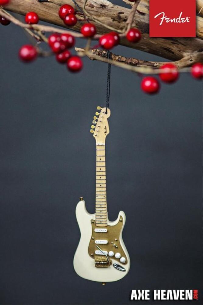 Fender 1950s Cream Strat 6 Inch Guitar Ornament - Fender 1950s Cream Strat 6 Inch Guitar Ornament