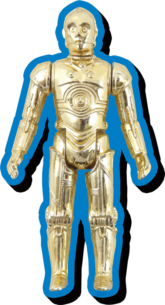 Star Wars C3Po Action Figure Funky Chunky Magnet - Star Wars C3po Action Figure Funky Chunky Magnet