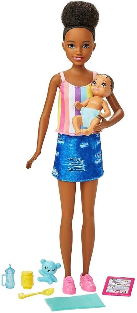 - Mattel - Barbie Skipper Babysitters Inc. Doll & Accessories, African American