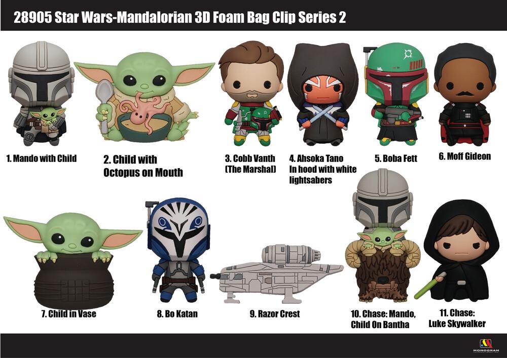 Star Wars Mandalorian 3D Foam Bag Clip - Series 2 - Star Wars Mandalorian 3d Foam Bag Clip - Series 2
