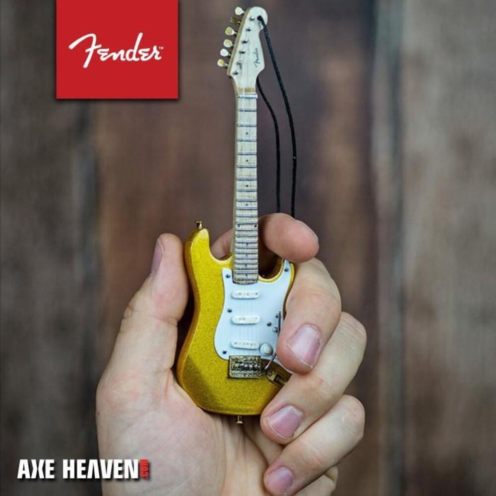 Fender 1950s Gold Strat 6 Inch Guitar Ornament - Fender 1950s Gold Strat 6 Inch Guitar Ornament