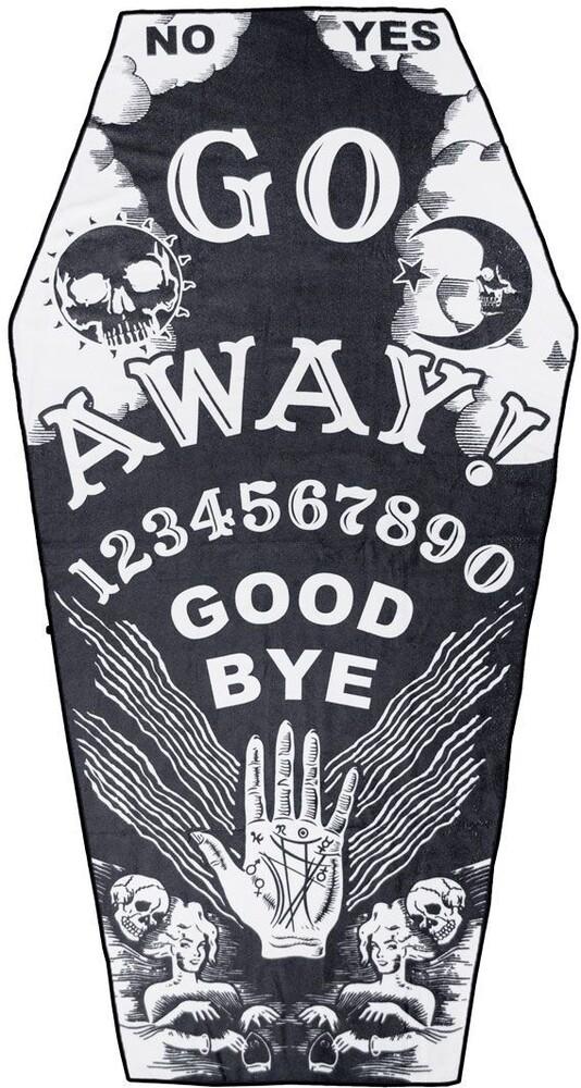 Go Away Ouija Coffin Beach Towel - Go Away Ouija Coffin Beach Towel (Clcb) (Deco)