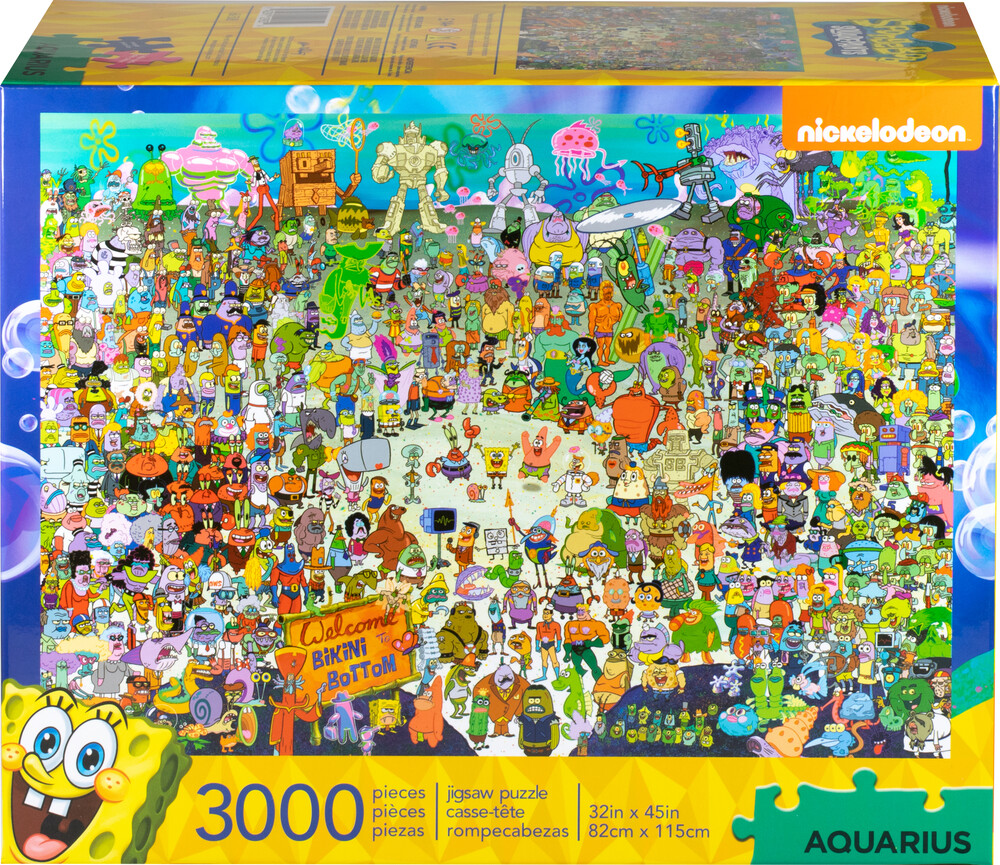 Spongebob Squarepants 3,000PC Puzzle - SpongeBob SquarePants 3,000pc Puzzle