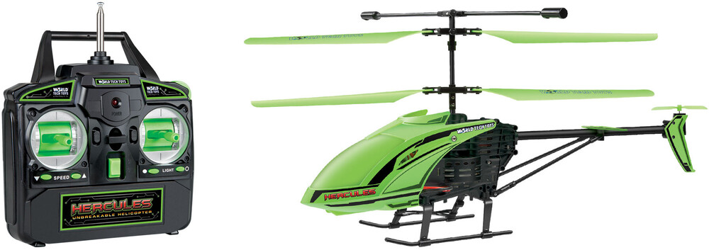 """Rc Helicopters - 3.5CHs: """"Glow in the Dark"""" Hercules Unbreakable Remote Control Gyro Helicopter"""