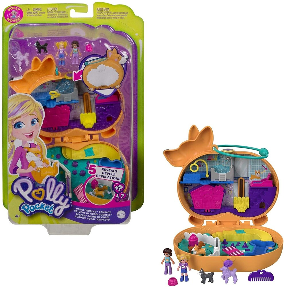 Polly Pocket - Mattel - Polly Pocket Corgi Hotel Compact