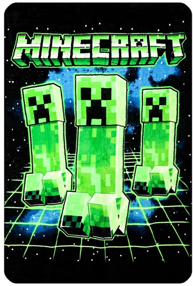 Minecraft Creeper Digital Fleece Flannel Throw - Minecraft Creeper Digital Fleece Flannel Throw