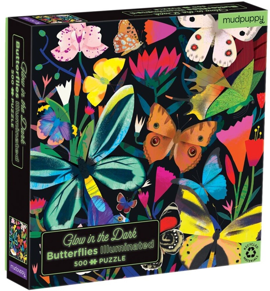 - Butterflies Illuminated 500 Piece Glow in the Dark Family Puzzle