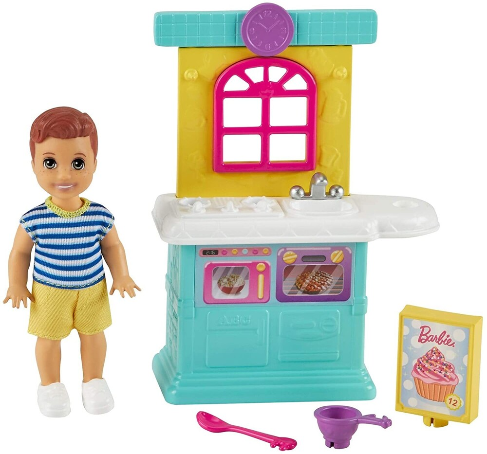 - Mattel - Barbie Skipper Babysitters Inc. Toddler Boy Doll and Playhouse Playset