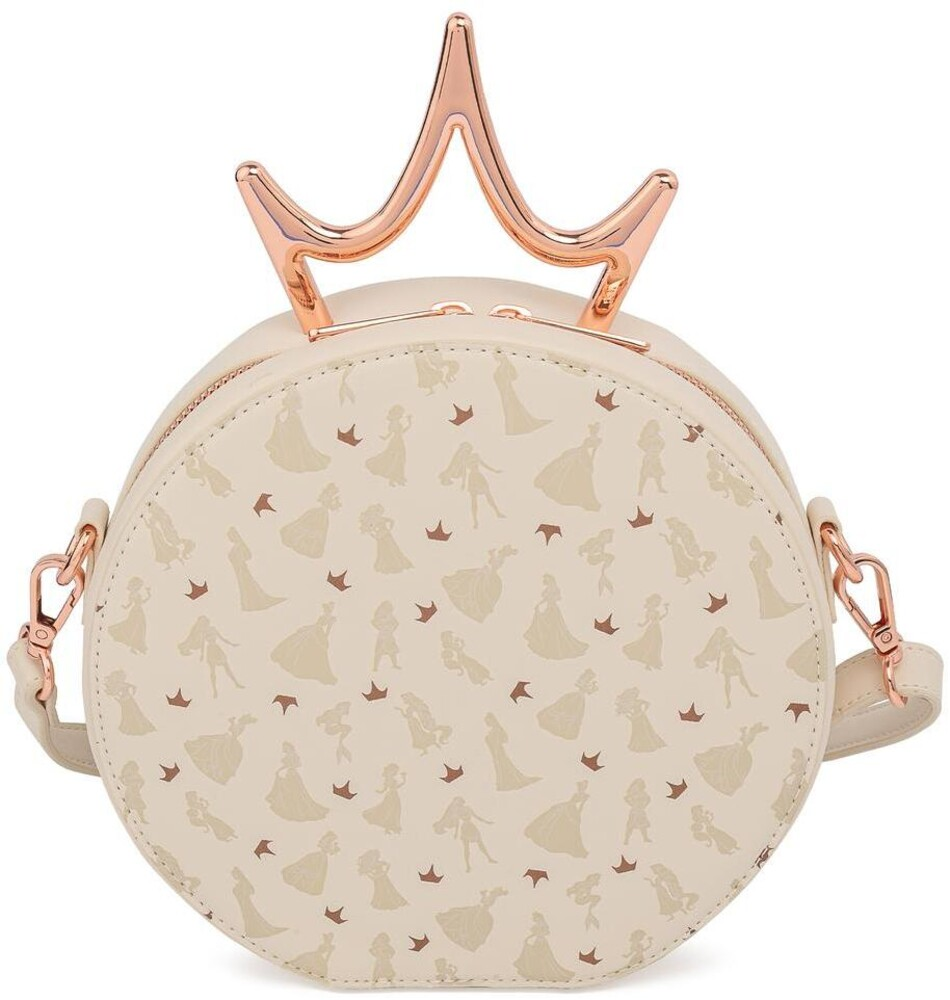 Loungefly Disney: - Ultimate Princess Metal Crown Cross Body Bag