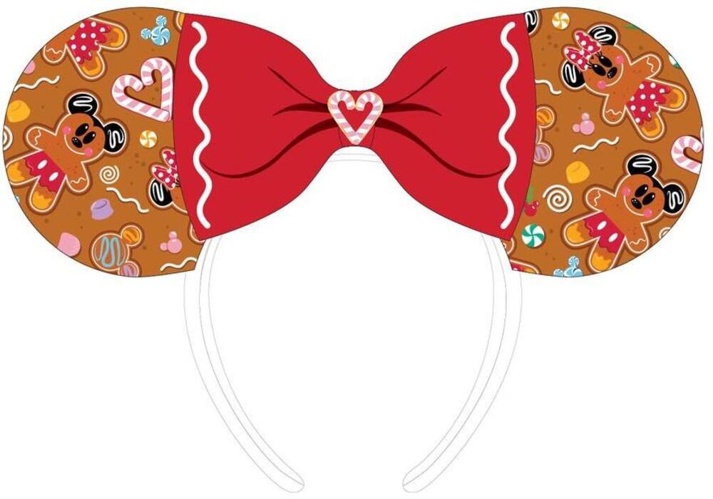 Loungefly Disney: - Ginger Bread Aop Patent Bow Heart Headband