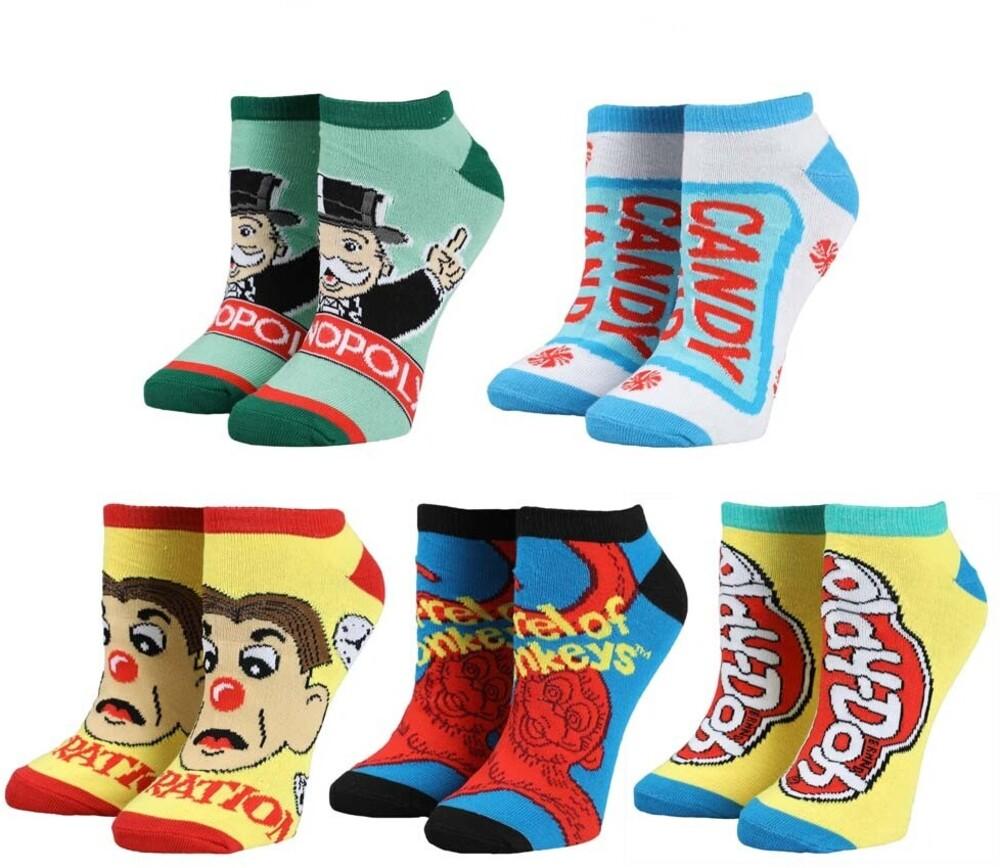 - Hasbro Gaming 5 Pk Ankle Socks Womens 5-10 (Mult)