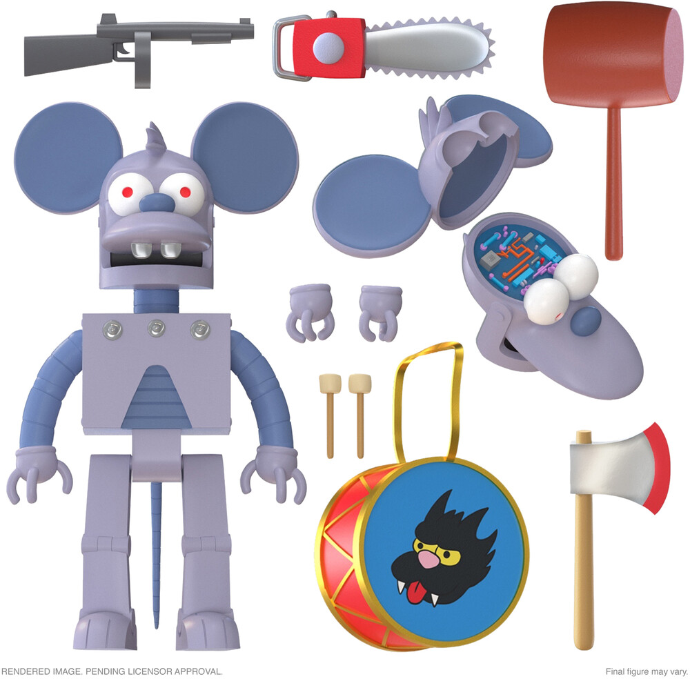 Simpsons Ultimates! Wave 1 - Robot Itchy - Simpsons Ultimates! Wave 1 - Robot Itchy (Afig)