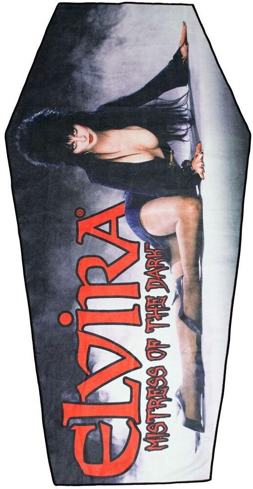 Elvira Classic Red Logo Coffin Beach Towel - Elvira Classic Red Logo Coffin Beach Towel (Clcb)