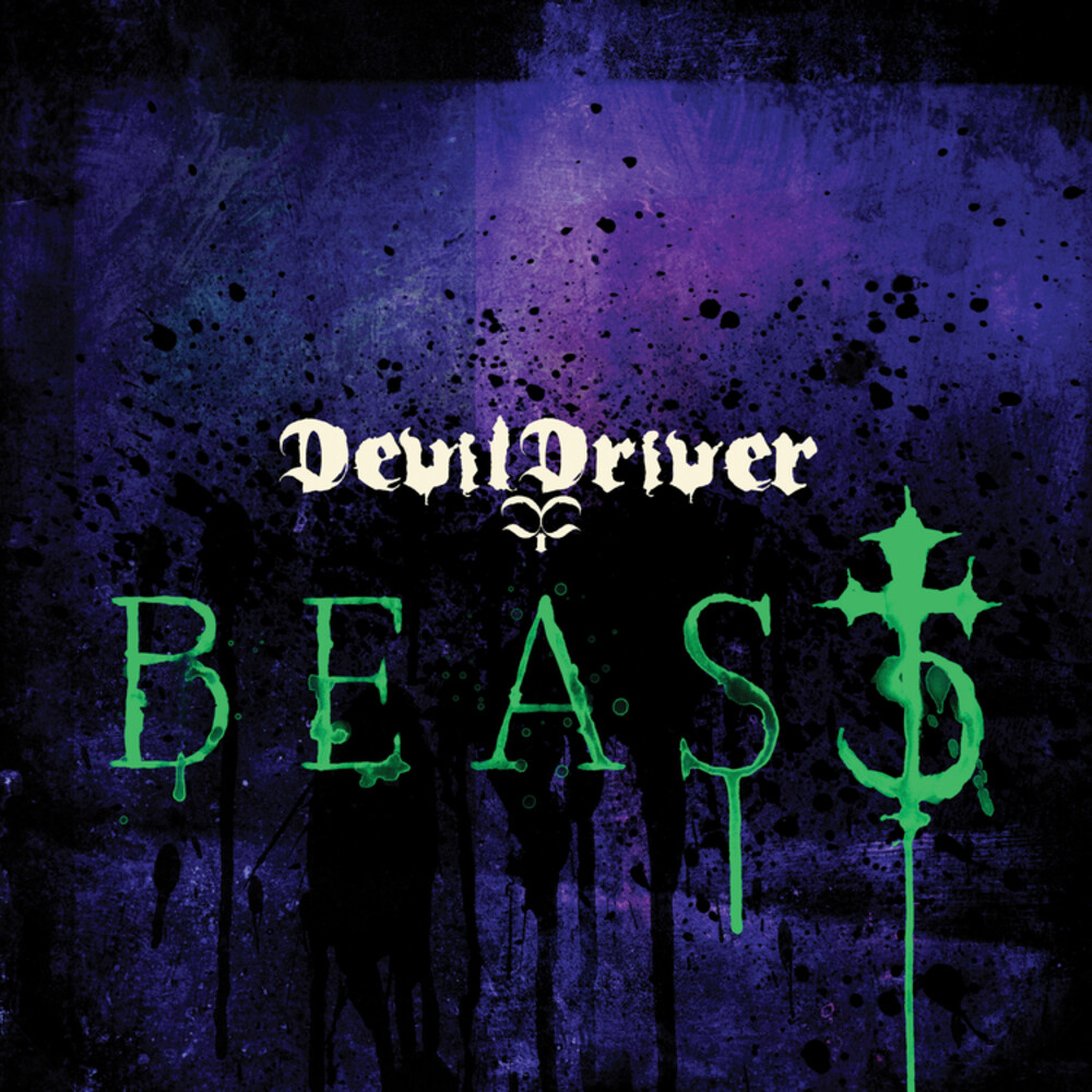 DevilDriver - Beast (Green & Purple Swirl) ((rocktober 2018 Exclusive)