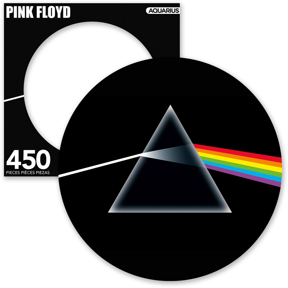 Pink Floyd Dark Side 450 PC Picture Disc Puzzle - Pink Floyd Dark Side Of The Moon 450 Pc Picture Disc Puzzle