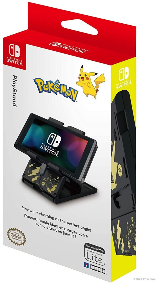 Hori Swi Playstand - Pikachu Black & Gold - HORI PlayStand (Pikachu Black & Gold) for Nintendo Switch