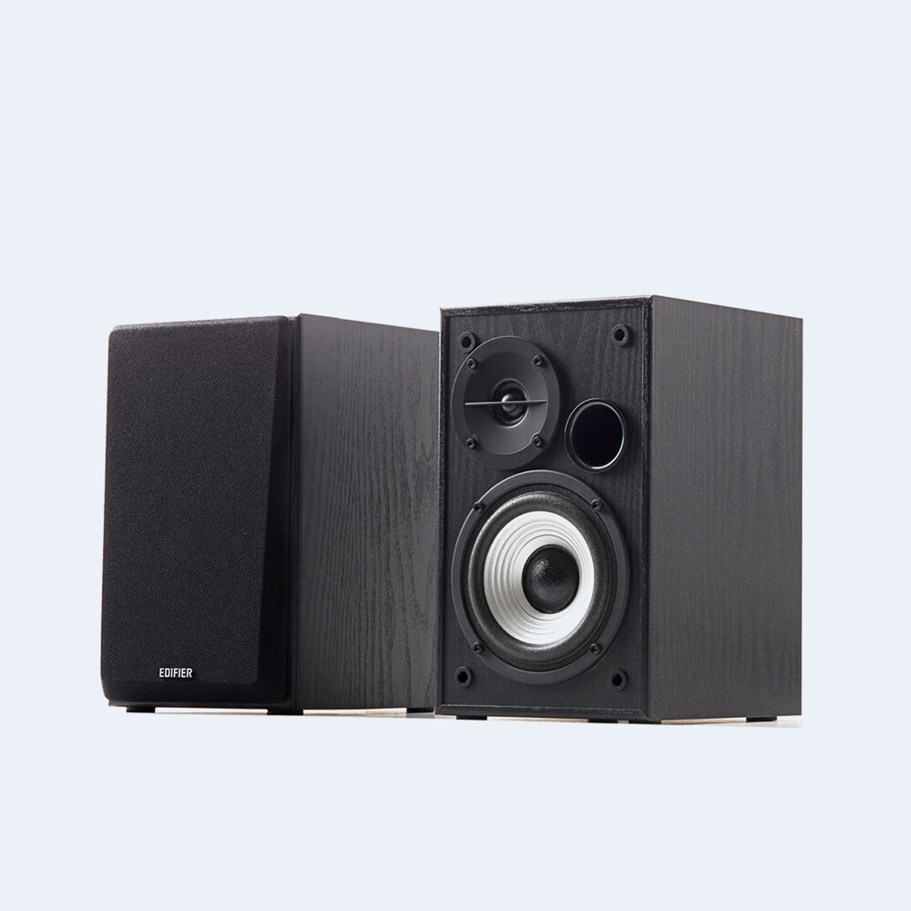 Edifier 4002557 R980T 2.0 Shelf Speakers 24W Black - Edifier 4002557 R980T 2.0 Active Compact Desktop / Bookshelf Speaker System Pair 24 Watts With built in Amp and Dual RCA inputs.