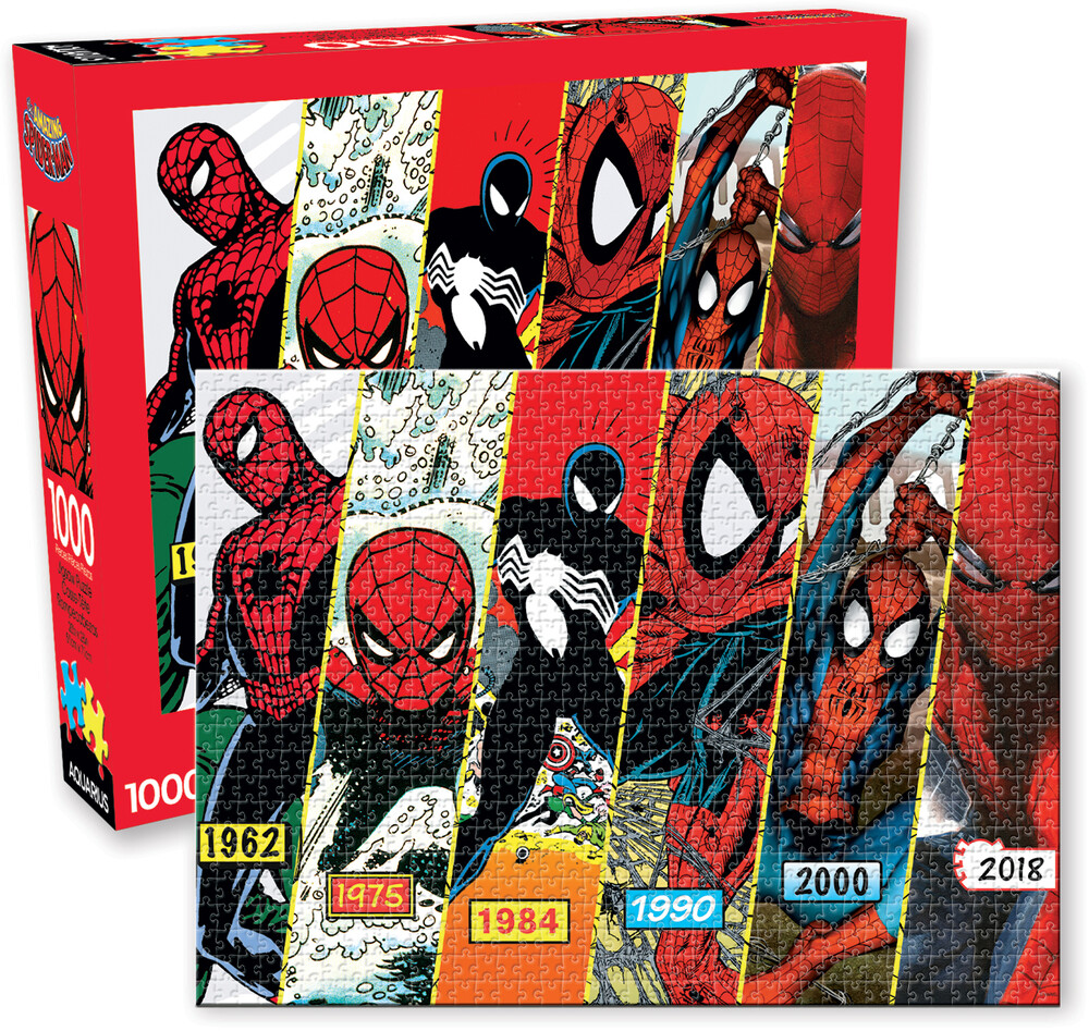 Marvel Spider-Man Timeline 1000 PC Jigsaw Puzzle - Marvel Spider-Man 1962 - 2018 Timeline 1000 Pc Jigsaw Puzzle