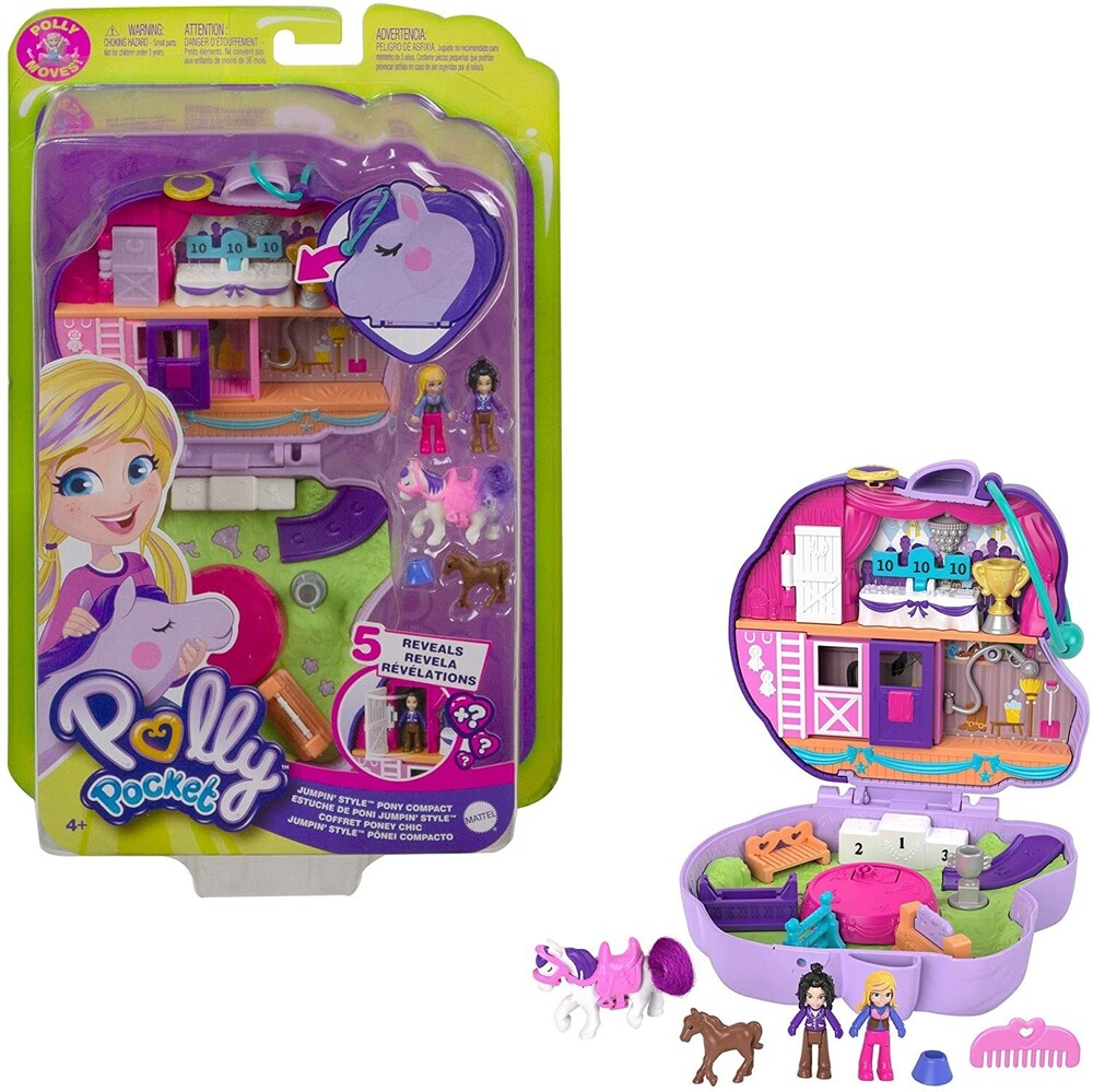 Polly Pocket - Mattel - Polly Pocket Horse Show Compact
