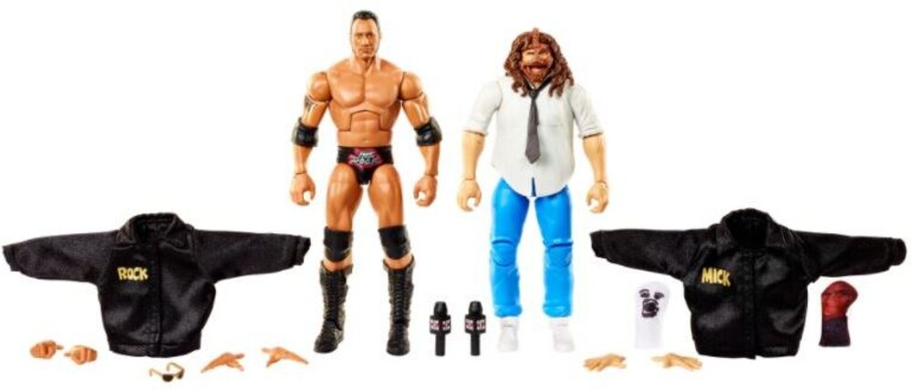 WWE - Mattel Collectible - WWE Elite Rock & Mankind