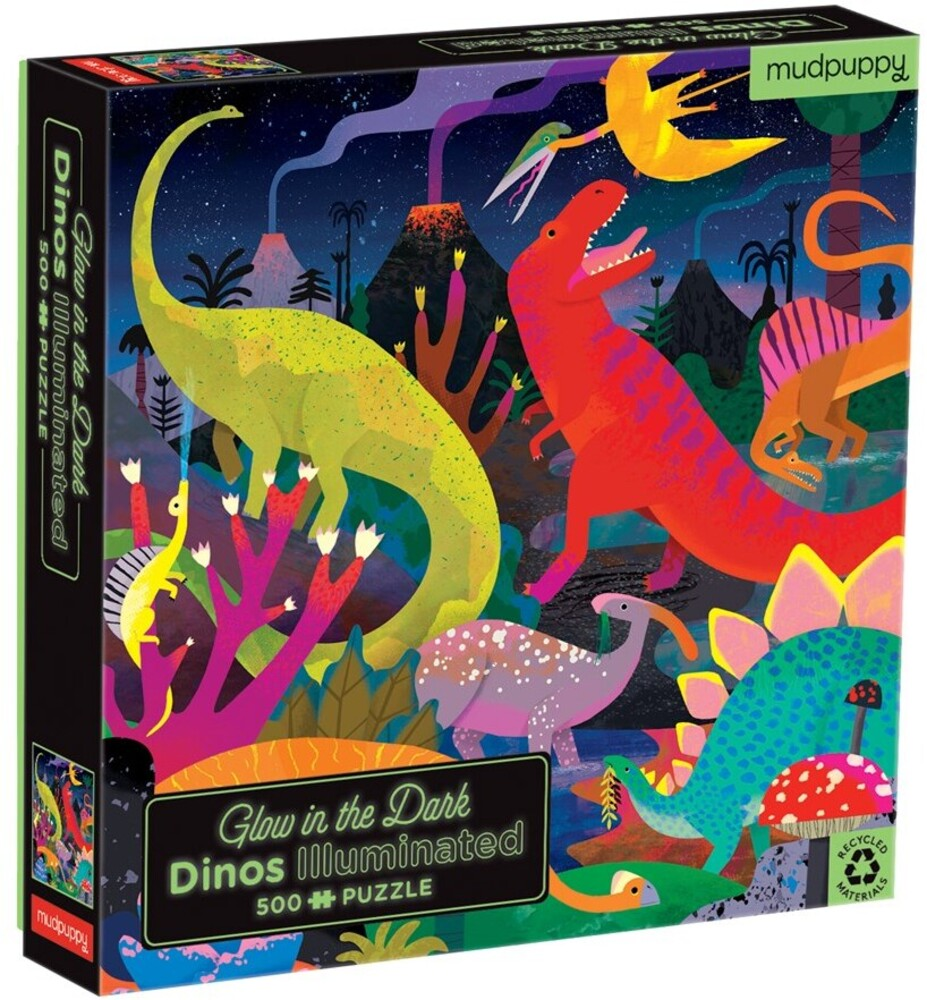 - Dinosaurs Illuminated 500 Piece Glow in the Dark Family Puzzle