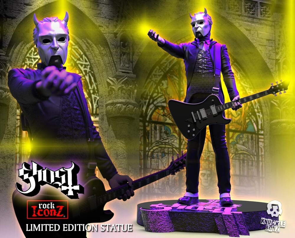 - Knucklebonz - Ghost - Nameless Ghoul (Black Guitar) Iconz Statue