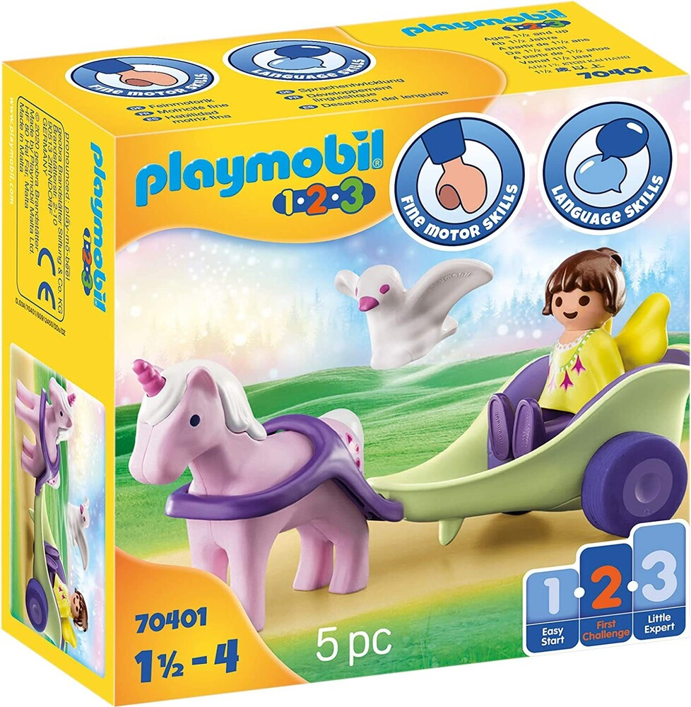 - 123 Unicorn Carriage With Fairy (Fig)