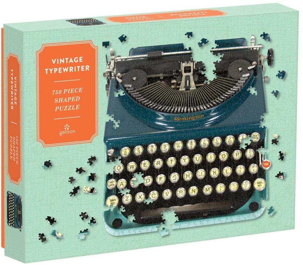 - Vintage Typewriter 750 Piece Shaped Puzzle