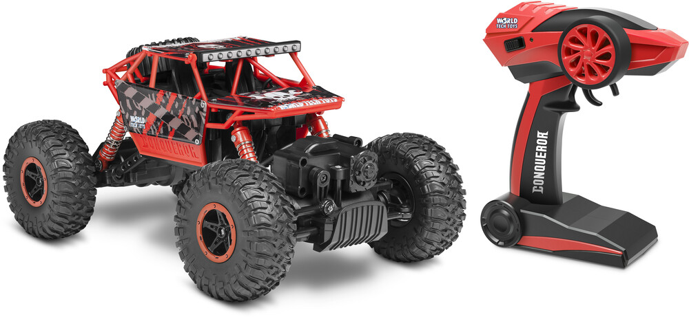 Rc Vehicles - 1:18 CONQUEROR 2.4Ghz 4x4 RC Rock Crawler (One random color per transaction. Colors blue, red or green)