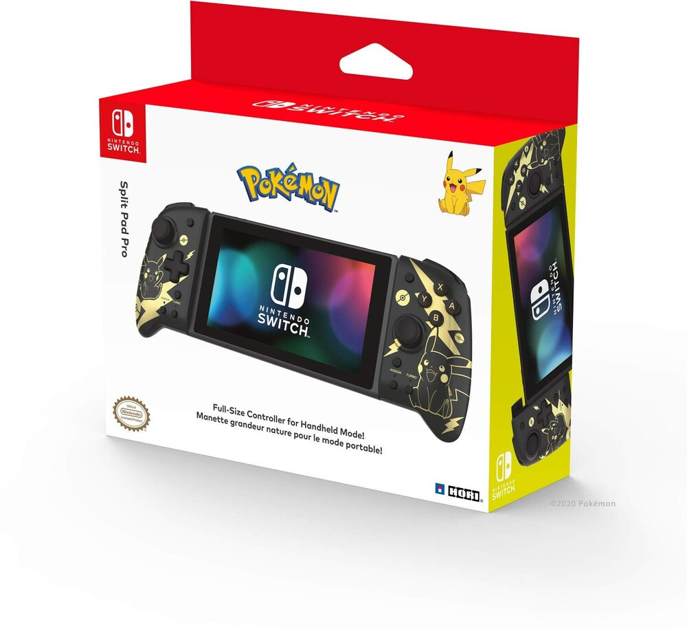 Hori Swi Split Pad Pro - Pikachu Black & Gold - HORI Split Pad Pro (Pikachu Black & Gold) for Nintendo Switch