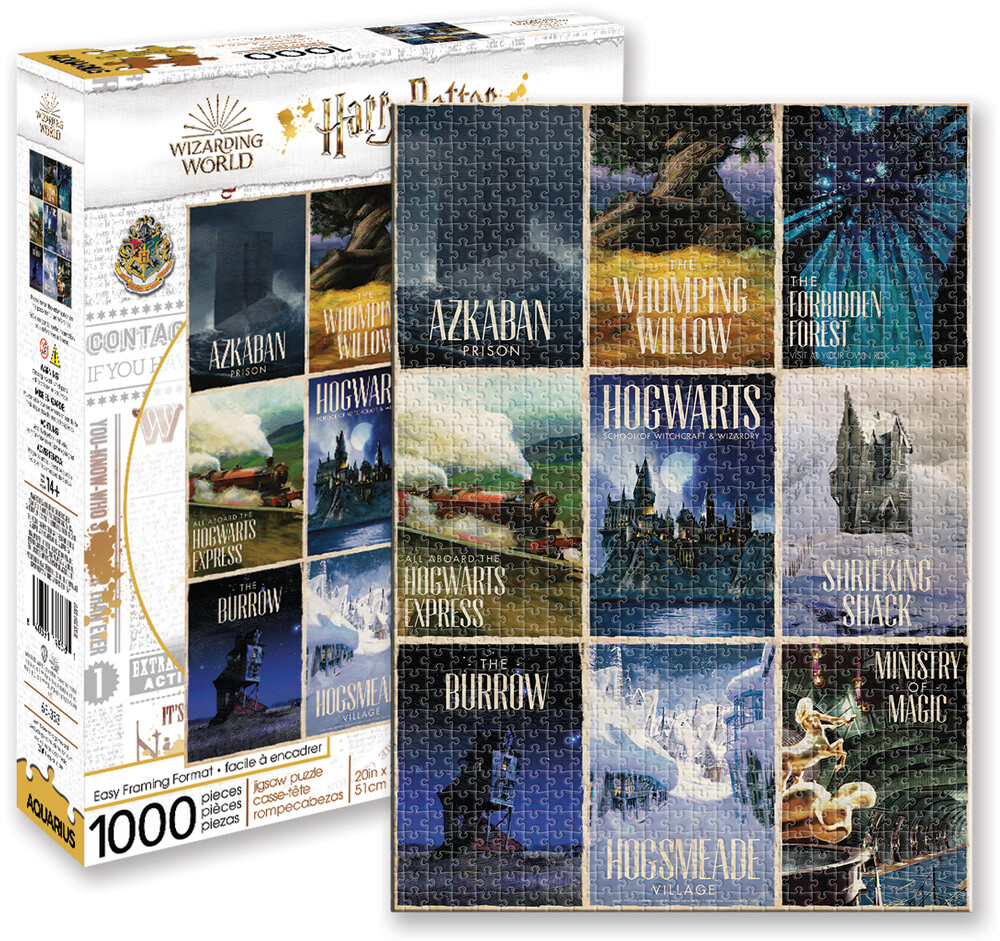 Harry Potter Travel Posters 1000 PC Jigsaw Puzzle - Harry Potter Travel Posters 1000 Pc Jigsaw Puzzle