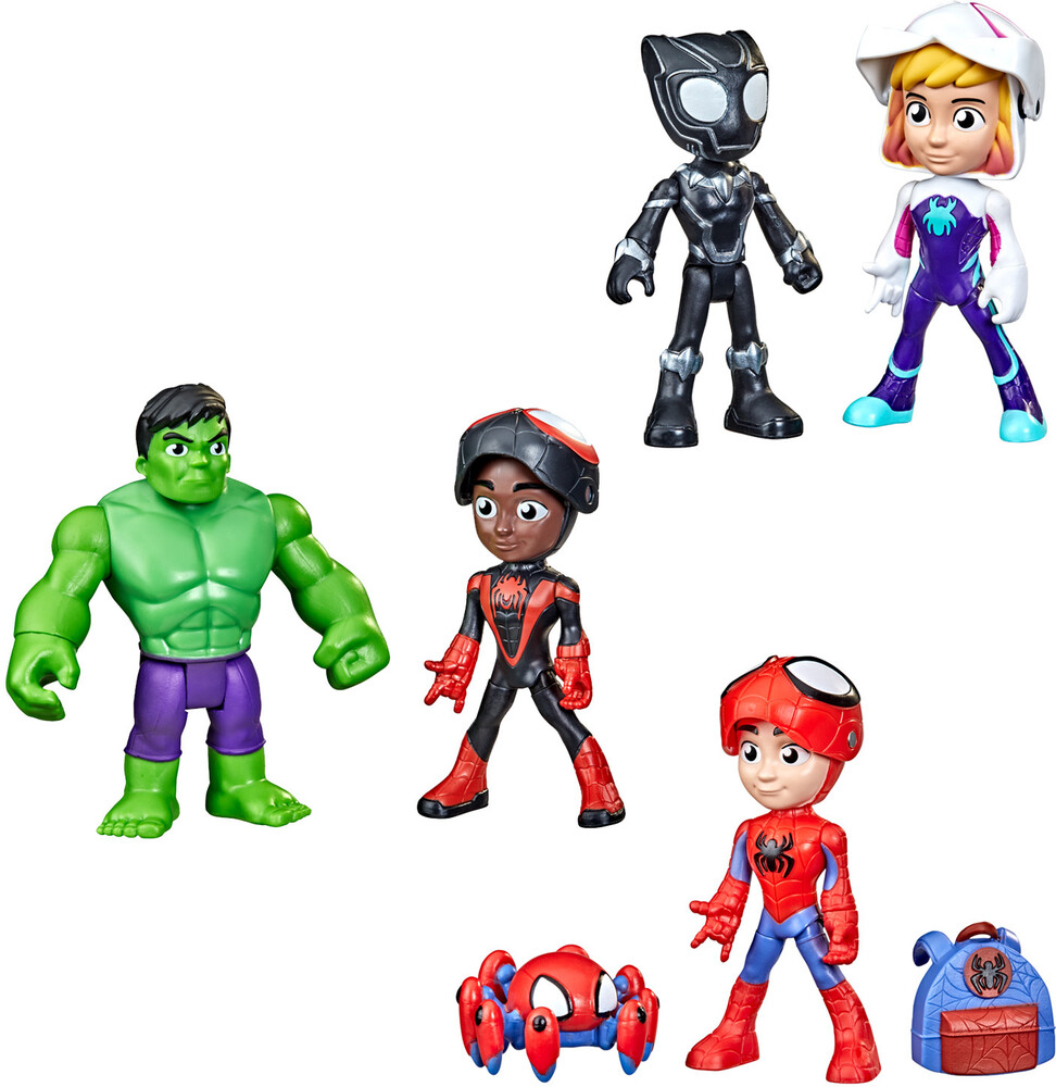 Saf Hero Reveal 2Pk Ast - Hasbro Collectibles - Spidey And His Amazing Friends Hero Reveal 2Pack Assortment